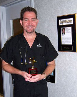 Dr. Carlos Bejar is honored by the North Broward Hospital district